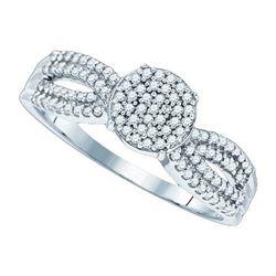 10KT White Gold 0.33CTW DIAMOND MICRO-PAVE RING