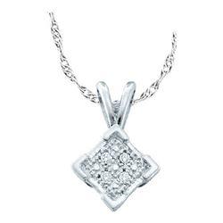 925 Sterling Silver White 0.01CTW DIAMOND MICRO PAVE PE