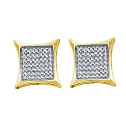 14KT Yellow Gold 0.66CTW DIAMOND INVISIBLE EARRINGS