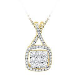 10K Yellow-gold 0.50CTW DIAMOND FASHION PENDANT