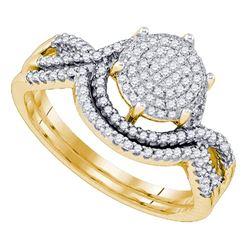 10K Yellow-gold 0.40CT DIAMOND MICRO PAVE RING