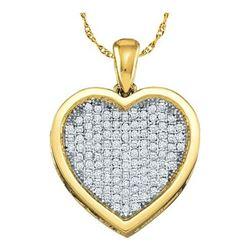 10KT Yellow Gold 0.05CTW DIAMOND  HEART PENDENT