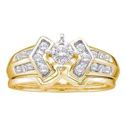 14KT Yellow Gold 0.25CTW DIAMOND ROUND CENTER BRIDAL RI