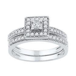 10KT White Gold 0.50CTW DIAMOND BRIDAL SET