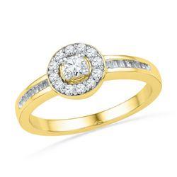 10K Yellow-gold 0.33CTW DIAMMOND FASHION RING
