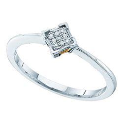 925 Sterling Silver White 0.01CTW DIAMOND MICRO PAVE RI