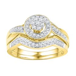 10K Yellow-gold 0.33CTW DIAMOND BRIDAL SET