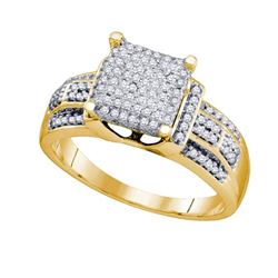 10K Yellow-gold 0.40CT DIAMOND MICRO-PAVE RING