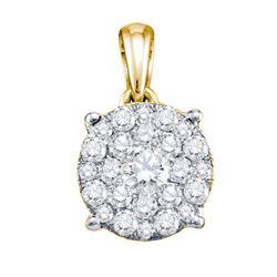 14KT Yellow Gold 0.26CTW DIAMOND SOLI-STAR PENDANT