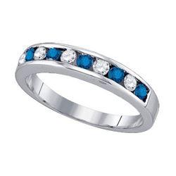 10KT White Gold 0.53CT BLUE DIAMOND FASHION BAND