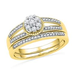 10K Yellow-gold 0.25CTW DIAMOND FASHION BRIDAL SET