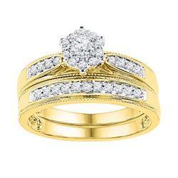 10K Yellow-gold 0.40CTW DIAMOND BRIDAL SET
