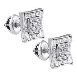 925 Sterling Silver White 0.11CTW DIAMOND MICRO-PAVE EA