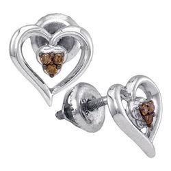 925 Sterling Silver White 0.07CT DIAMOND FASHION EARRIN