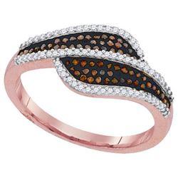 10KT Rose Gold 0.33CTW DIAMOND MICRO-PAVE RING