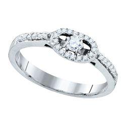 10K White-gold 0.25CTW DIAMOND BRIDAL RING