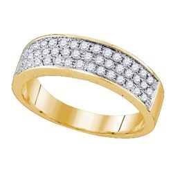 10K Yellow-gold 0.51CT DIAMOND FASHION BAND