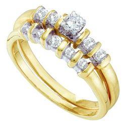 10K Yellow-gold 0.42CTW DIAMOND LADIES BRIDAL SET