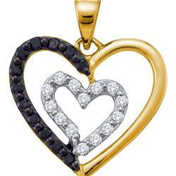 14KT Yellow Gold 0.48CTW DIAMOND HEART PENDANT