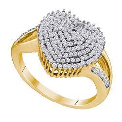 10K Yellow-gold 0.50CT DIAMOND HEART RING