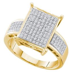 10K Yellow-gold 0.30CT DIAMOND MICRO PAVE BRIDAL RING