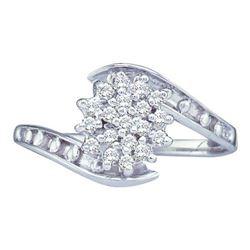 10KT White Gold 0.49CT-Diamond FASHION RING-S9