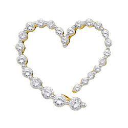 14KT Yellow Gold 0.50CTW ROUND DIAMOND LADIES FASHION H