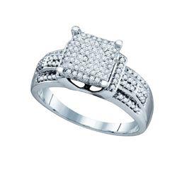 10KT White Gold 0.40CTW DIAMOND MICRO PAVE RING