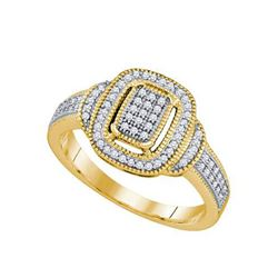 10KT Yellow Gold 0.25CTW DIAMOND MICRO PAVE RING