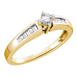 10KT Yellow Gold 0.33CTW DIAMOND ROUND CENTER BRIDAL RI