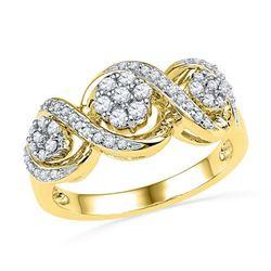 10K Yellow-gold 0.33CTW DIAMOND FASHION RING