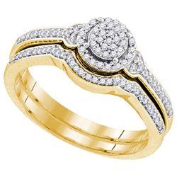 10K Yellow-gold 0.25CTW DIAMOND MIRO-PAVE BRIDAL SET