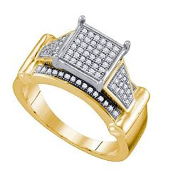10K Yellow-gold 0.25CT DIAMOND MICRO PAVE RING