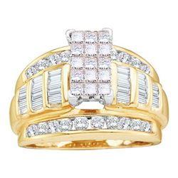 10K Yellow-gold 1.05CT COGNAC DIAMOND FASHION RING