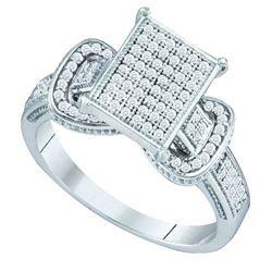 10KT White Gold 0.33CTW DIAMOND MICRO PAVE RING