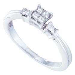 14KT White Gold 0.25CTW DIAMOND LADIES INVISIBLE RING