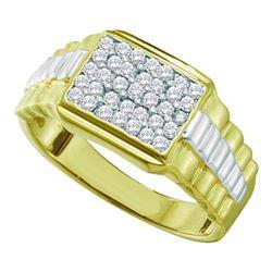 10K Yellow-gold 0.50CT-DIAMOND FASHION MENS RING
