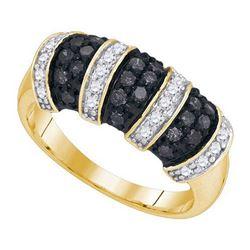 10K Yellow-gold 0.75CTW BLACK DIAMOND FASHION RING