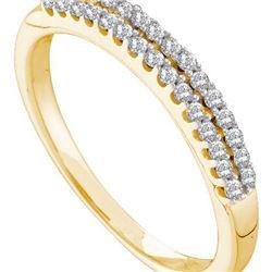 14KT Yellow Gold 0.20CTW DIAMOND FASHION BAND