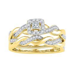 10K Yellow-gold 0.33CTW-Diamond FASHION RING