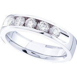 14KT White Gold 0.49CT-Diamond FASHION RING