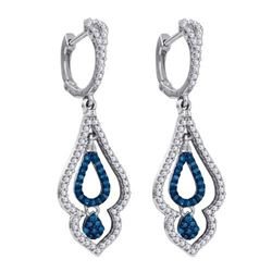 10KT White Gold 0.50CTW DIAMOND MICRO-PAVE EARRING