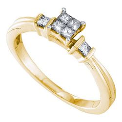 14KT Yellow Gold 0.25CTW DIAMOND INVISIBLE RING