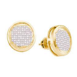 14KT Yellow Gold 1.00CTW PRINCESS DIAMOND SET EARRINGS