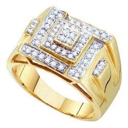 10K Yellow-gold 0.50CTW DIAMOND MICRO PAVE MENS RING