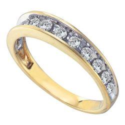 14KT Yellow Gold 0.50CTW DIAMOND FASHION BAND