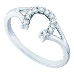10K White-gold 0.10CTW DIAMOND FASHION RING