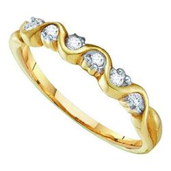 10KT Yellow Gold 0.10CTW DIAMOND LADIES BAND