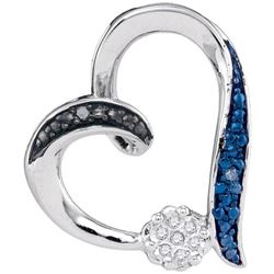 925 Sterling Silver White 0.03CTW DIAMOND FASHION PENDA