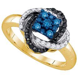 10K Yellow-gold 0.53CTW DIAMOND FASHION RING